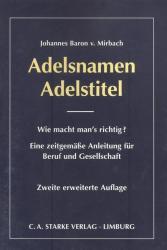 Adelsnamen Adelstitel