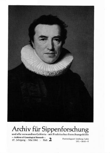 Archiv für Sippenforschung - Einzelheft, Band 2 (1961 (27. Jg.))