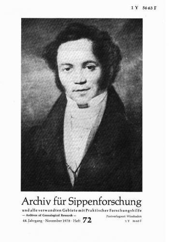 Archiv für Sippenforschung - Einzelheft, Band 72 (1978 (44. Jg.))