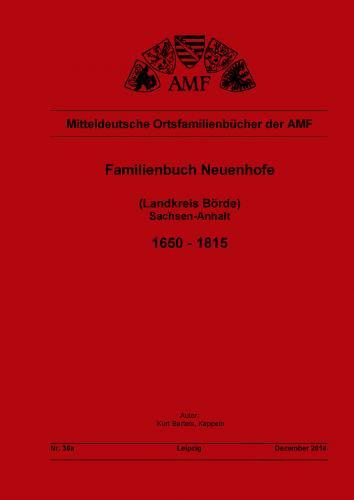 Familienbuch Neuenhofe 1653 bis 1815 (Ohrekreis)