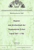 Register KB Thomaskirche Erfurt 1667-1782 (Band 2)