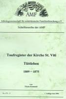 Taufregister der Kirche St. Viti Tüttleben – Band 2