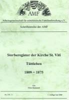 Sterberegister der Kirche St. Viti Tüttleben – Band 3