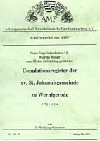 Copulationsregister der ev. St. Johannisgemeinde zu Wernigerode