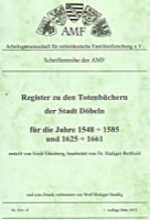 Register zum Traubuch Döbeln 1548-1585 und die bürgerlichen Bewohner der Stadt – Band 2