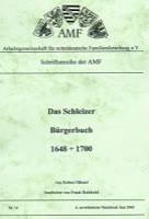 Das Schleizer Bürgerbuch 1648 - 1700