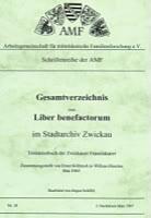 Gesamtverzeichnis zum Liber benefactorum Zwickau