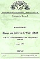 Beschreibung der Bürger und Wittwen der Stadt Erfurt von 1674
