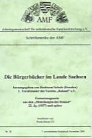 Die Bürgerbücher im Lande Sachsen