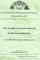 Der Nachlaß v. Erich Gleisberg im Pfarramt Döbeln