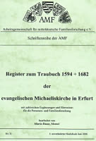 Register zum Traubuch 1594 - 1682
