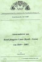 Auswanderer aus Reuß jüngerer Linie (Reuß-Gera) von 1849 bis 1882
