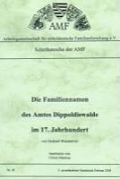 Die Familiennamen des Amtes Dippoldiswalde im 17. Jahrhundert