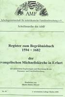 Register zum Begräbnisbuch der ev. Michaeliskirche in Erfurt