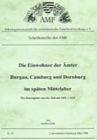 Die Einwohner der Ämter Burgau, Camburg und Dornburg im späten Mittelalter