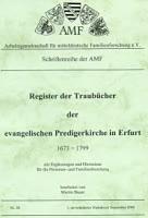 Register der Traubücher der ev. Predigerkirche in Erfurt 1673-1799