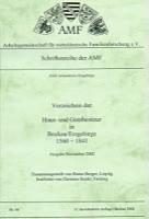 Verzeichnis der Haus- und Gutsbesitzer in Bockau/Erzgebirge 1560-1841