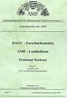 DAGV-Forscherkontakte – AMF-Landeslisten 1999 Sachsen Namen – Teilband 1