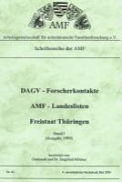 DAGV-Forscherkontakte – AMF-Landeslisten 1999 Thüringen