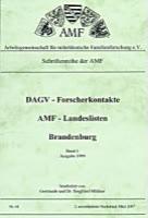 DAGV-Forscherkontakte – AMF-Landeslisten 1999 Brandenburg