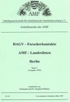 DAGV-Forscherkontakte – AMF-Landeslisten 1999 Berlin