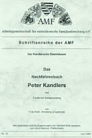 Das Nachfahrenbuch Peter Kandlers aus Förstei bei Schwarzenberg