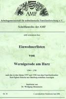 Einwohnerlisten von Wernigerode 1590-1781