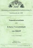 Namensverzeichnis Erfurter Verrechtsbuch 1666/69