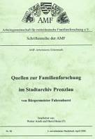 Quellen zur Familienforschung im Stadtarchiv Prenzlau