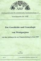 Zur Geschichte der Genealogie von Wenigenjena