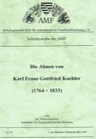 Die Ahnen von Karl Franz Gottfried Koehler (1764-1833)