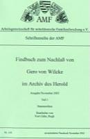 Findbuch zum Nachlaß von Gero von Wilcke im Archiv des HEROLD