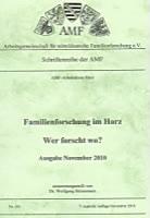 Familienforschung im Harz - Wer forscht wo?