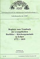 Register zum Traubuch der ev. Barfüßer-Gemeinde in Erfurt 1772-1819