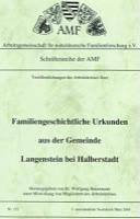 Familiengeschichtliche Urkunden aus der Gemeinde Langenstein bei Halberstadt