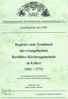 Register zum Traubuch der ev. Barfüßergemeinde in Erfurt 1591-1771