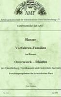 Harzer Vorfahren-Familien im Raume Osterwieck-