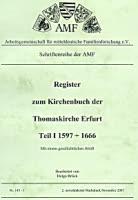 Das Kirchenbuch der Thomas-Kirche zu Erfurt von 1597-1666
