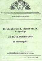 5. Treffen AK Erzgebirge am 10./12. Oktober in Freiberg/Sachsen