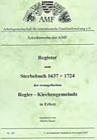 Register zum Sterbebuch 1637-1724 der ev. Regler-Gemeinde Erfurt