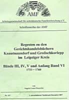 Regesten Gerichtshandelsbücher Knautnaundorf und Großschkorlopp im Leipziger Kreis