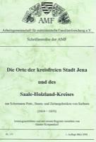 Die Orte der kreisfreien Stadt Jena und des Saale-Holzland-Kreises aus Schumanns Post-, Staats- und Zeitungslexikon von Sachsen