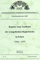 Register zum Taufbuch der ev. Reglerkirche Erfurt 1734-1777