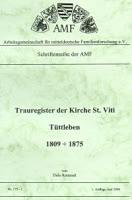 Trauregister der Kirche St. Viti Tüttleben – Band 1