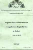 Register der Traubücher der ev. Reglerkirche in Erfurt