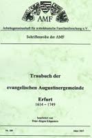 Traubuch der evangelischen Augustinergemeinde Erfurt