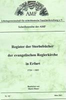 Register der Sterbebücher der ev. Reglerkirche in Erfurt