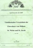 Tabellarisches Verzeichnis der Einwohner von Mülsen, St. Niclas und St. Jacob von 1787