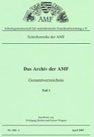 Das Archiv der AMF - Gesamtverzeichnis