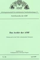 Das Archiv der AMF - Ortsnamen